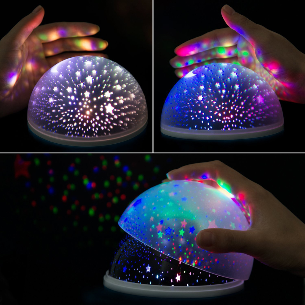 Tooniu Rotating Night Light Projector Spin Starry Sky Star Master Children Kids Baby Sleep Romantic Led USB Lamp Projection