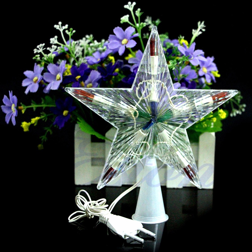 Color Changing Xmas Christmas Tree Topper Star Light Party LED Lamp Decoration   #W0906S#