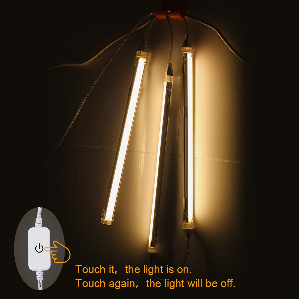 LED Cabinet Bar Light -Under Kitchen Light Energy Saving Touch Switch LED Bar Light Kit