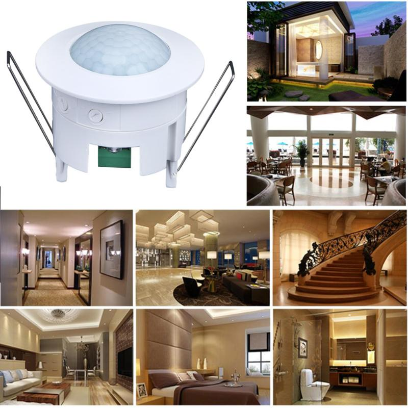 Home Ceiling Infrared Ray Sensor Lamp 360 Degree Lighting Garden Home Door Night Light Switch Intelligent White