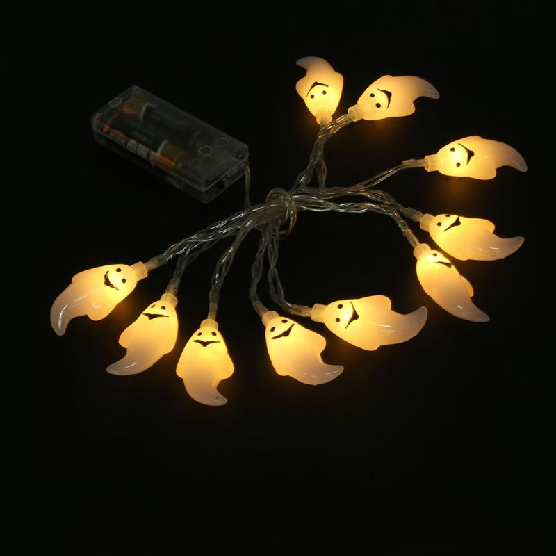 10LED 1.5m Ghost String Light Battery Power Flasher Fairy Lamp Halloween String Lights Christmas Decorations for Home Party