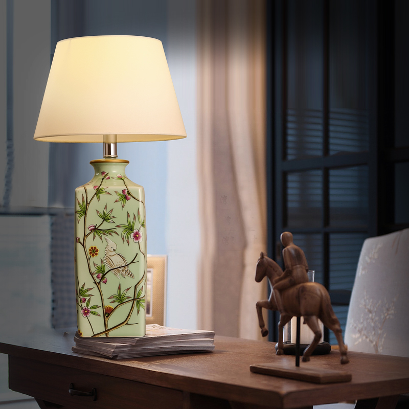 Modern Chinese ceramic table lamp classical warm and elegant ...