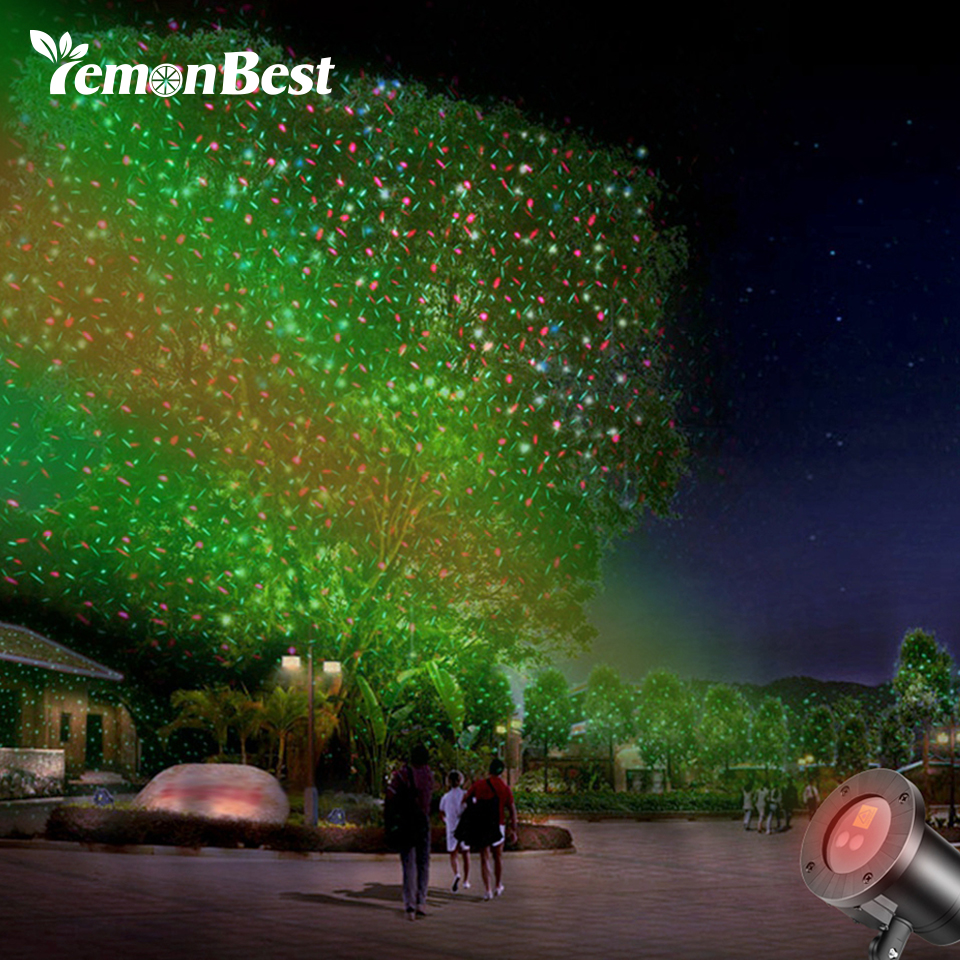 Lemonbest IP68 Laser Light Lawn Lamp Firefly Light Sparkling Star Projector for Christmas/Holiday/ Party/Wedding/KTV/Disco Decor