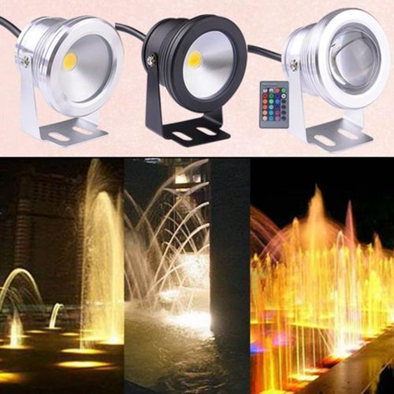 10W LED Swimming Pool Light Underwater Waterproof IP67 Landscape Lamp Warm/Cool White AC/DC 12V 800 - 900lm