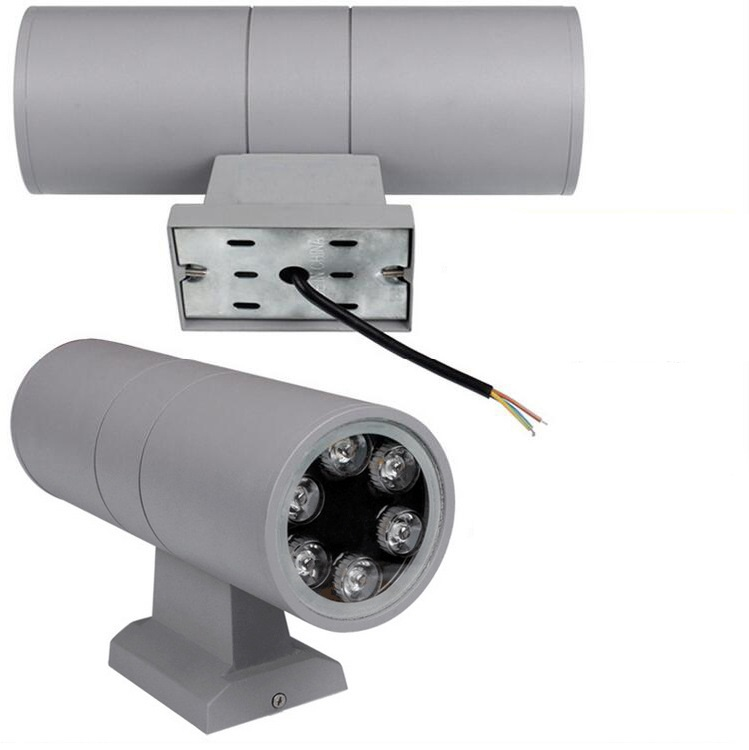 Modern decor Up Down Dual-Head Cylinder 6W 12W 24W 36W LED Wall Light Outdoor Waterproof IP65 Wall Lamp AC 85-265V