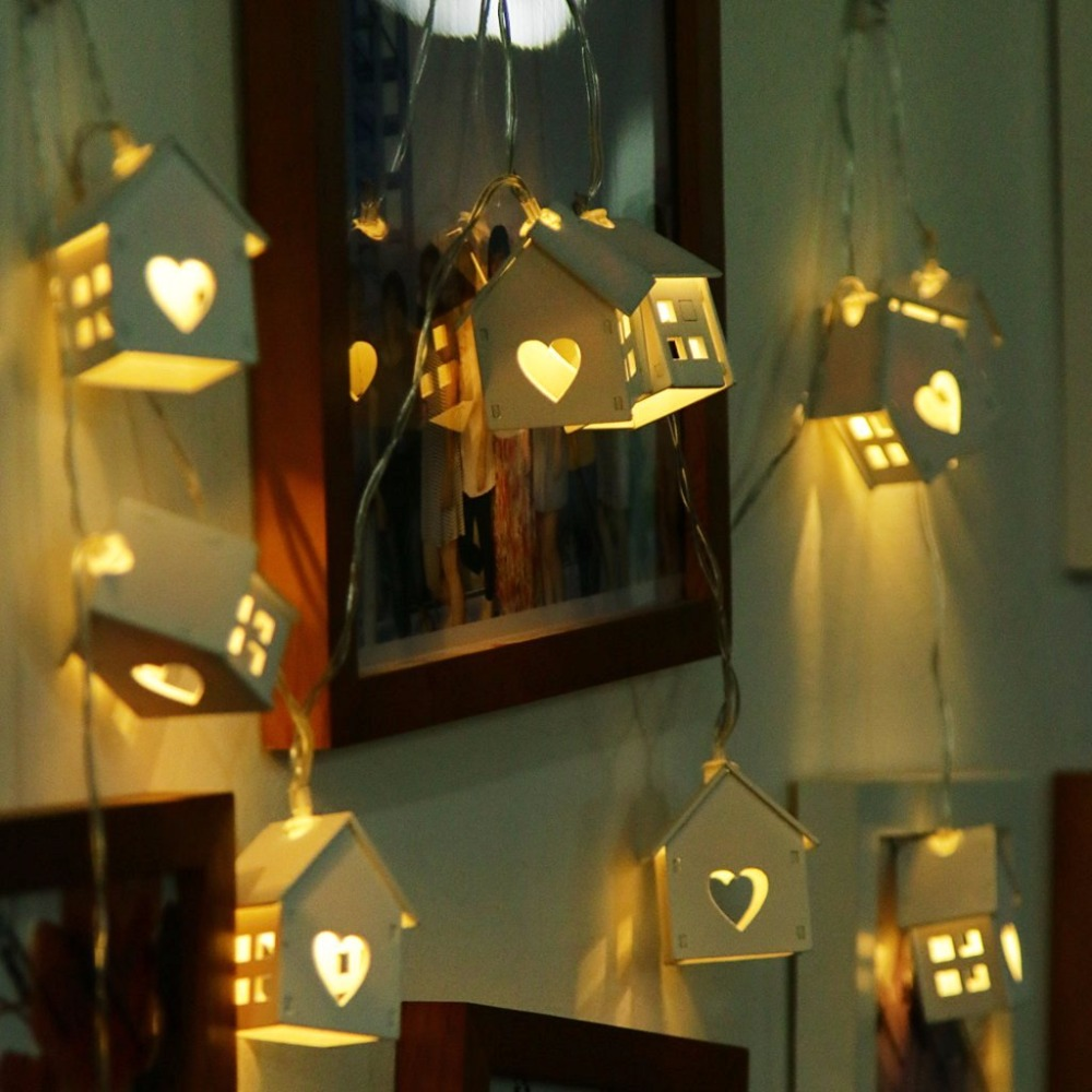 1.5M 10LED House Shaped Led String Light for Indoor Decoration, Girl's Room Decorative String Lights Wedding PartyXmas Garland