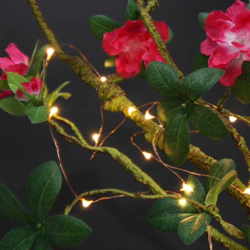 5m 50led Holiday String USB Power Copper Light for Christmas Tree Decoration Warm Lighting Bedroom Lamp