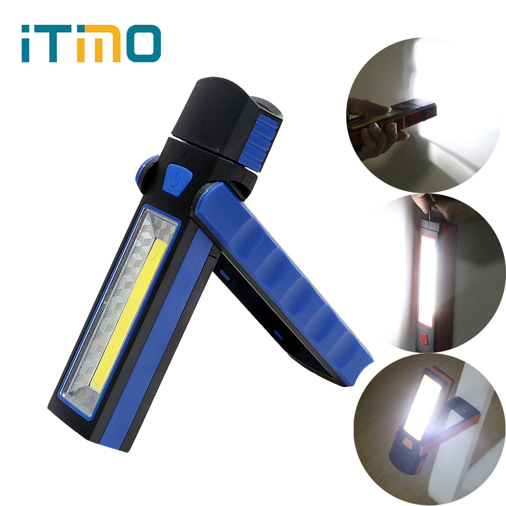 iTimo Magnet Inspection Lamp with Hook Flashlight Tent Light Adjustable Pocket Lantern Outdoor Lamp COB LED Work Light 3W