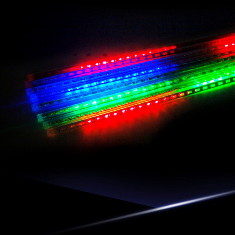 Solar Tube  30cm 50cm Meteor Shower Light LED Tube Christmas Lights Strings 8 Tubes Waterproof For Party Decoration