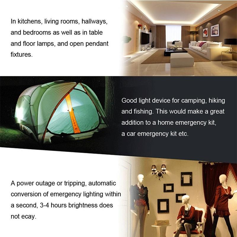 LumiParty 7W 400LM Portable LED Solar Bulb Light E27 85-265V Intelligent Rechargeable Solar Lamp Emergency Lighting
