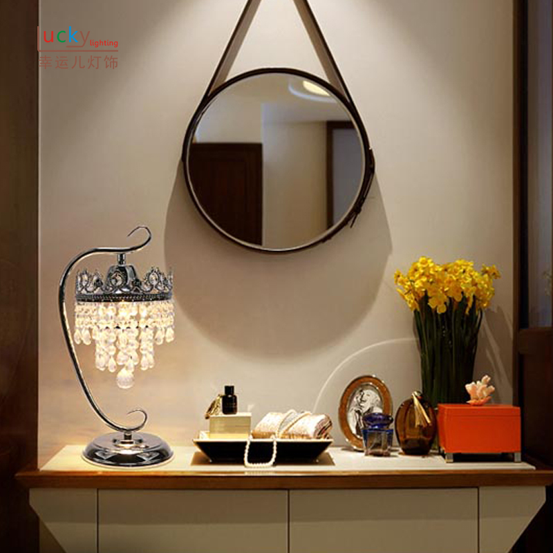 bedroom Bedside led table lamp bedroom crystal touch light study desktop living room sofa corner desk lamps table light ZA99546
