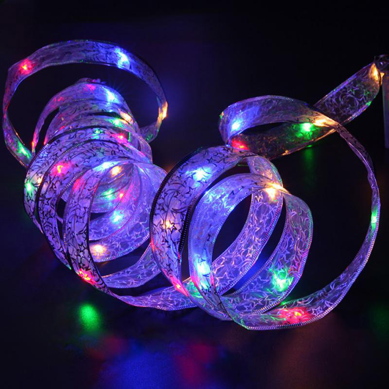 4M 40LEDs Light String Ribbon Shape Lamp Holiday Gardening Party Wedding CLH@8