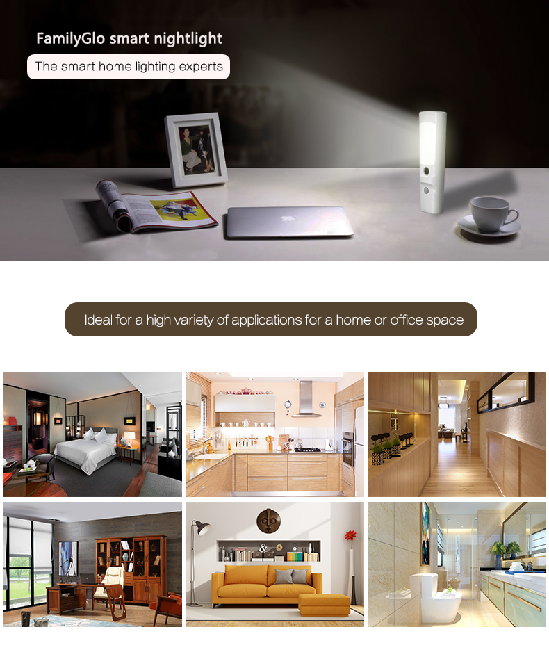 Emergency Automatic Blackout Light Handheld flashlight & Sensor Nightlight Rechargeable Battery & Wireless Induction charge