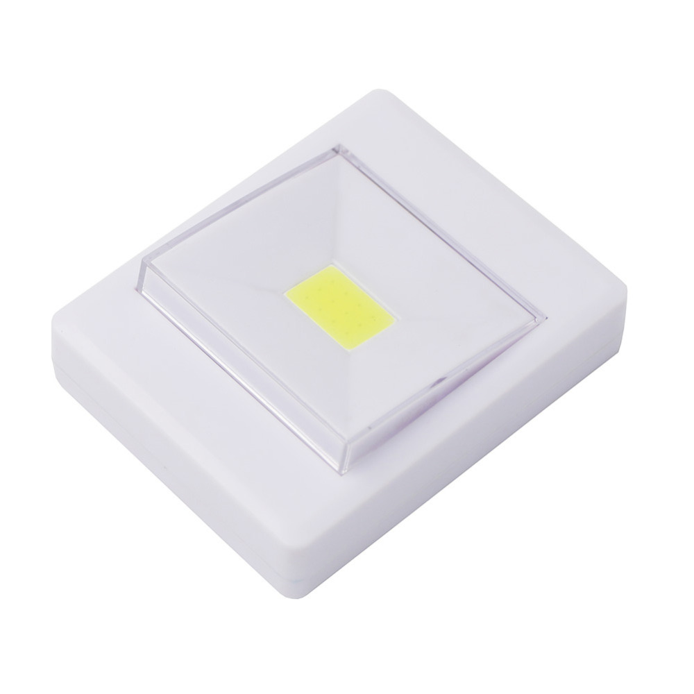 COB LED Magnetic Wall Night Lights Camping Lamp 4*AAA Battery Operated with Switch Magic Tape for Indoor Garage Closet