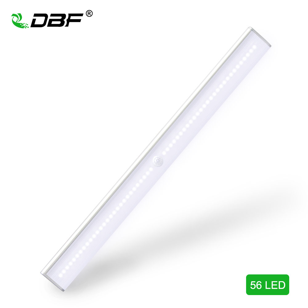 DBF USB Rechargeable 56 LED Closet Light, Stick-on Anywhere Night Light, 4 Mode Switch Li-Battery Operated Light, Security Light