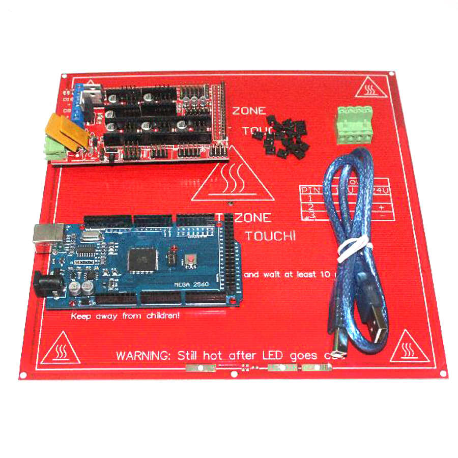 2017 3D Printer Kit for arduino Mega 2560 R3 Development Board+Heated Bed MK2B+RAMPS 1.4 Controller Control Panel AtMega2560