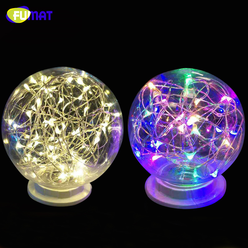 FUMAT LED RGB Night Light Filament lamp Retro Edison Fairy LED light String Bulb  E27 110V 220V Xmas Holiday Party Decor Night