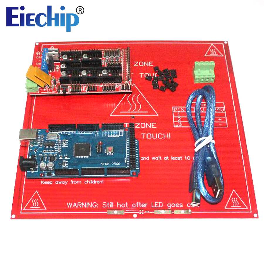 2018 3D Printer Kit for arduino Mega 2560 R3 Development Board+Heated Bed MK2B+RAMPS 1.4 Controller Control Panel AtMega2560