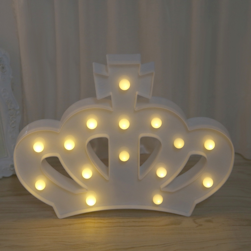 3D Marquee Crown Lamp With 15 LED Battery Operated Table Light  L22