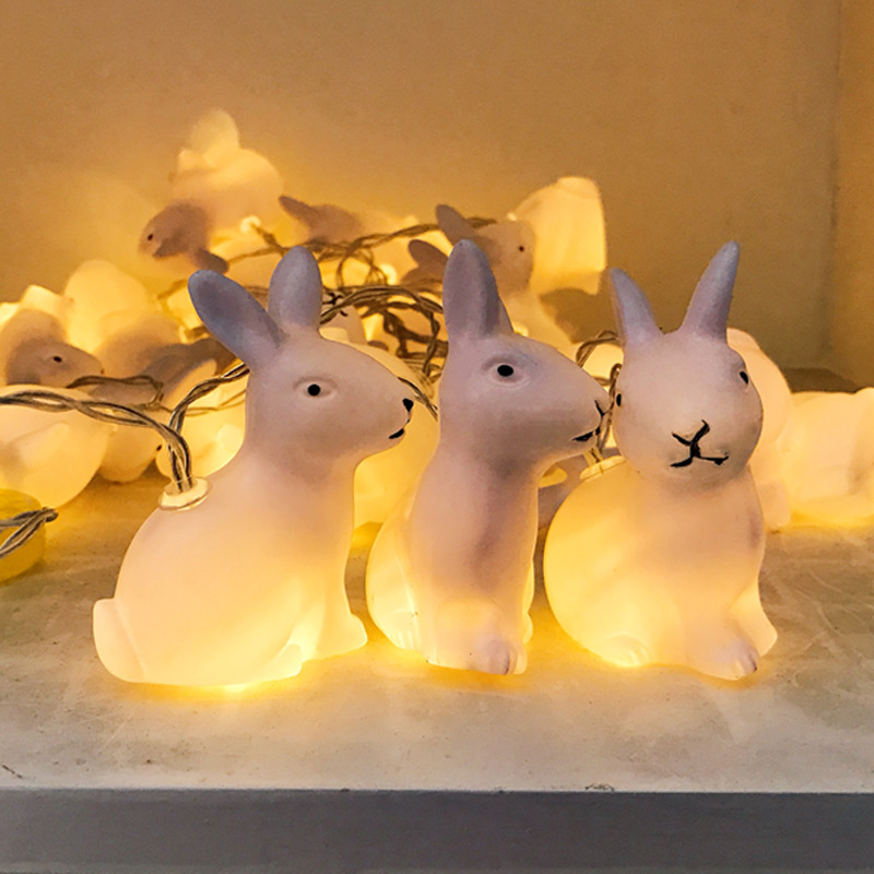 New Hot Sale Rabbit String Light Christmas Strip Lamp 3M 20 LED Wedding Home Decoration Warm White Creative Gifts