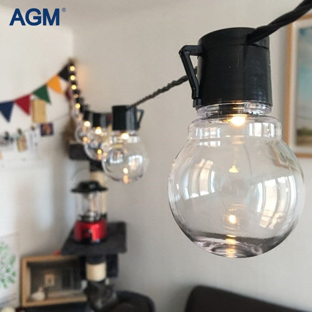 AGM 20 LED G45 Globe Led String Lights Garland Ball Lamps Connectable Festoon Christmas Light For New Year Holiday Decoration