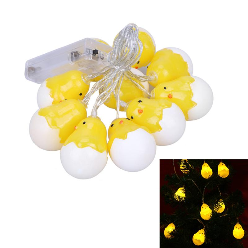 Led Fairy So cute Yellow Chicks Battery Operated String Light LED Decoration For Christmas Garland New Year 2017