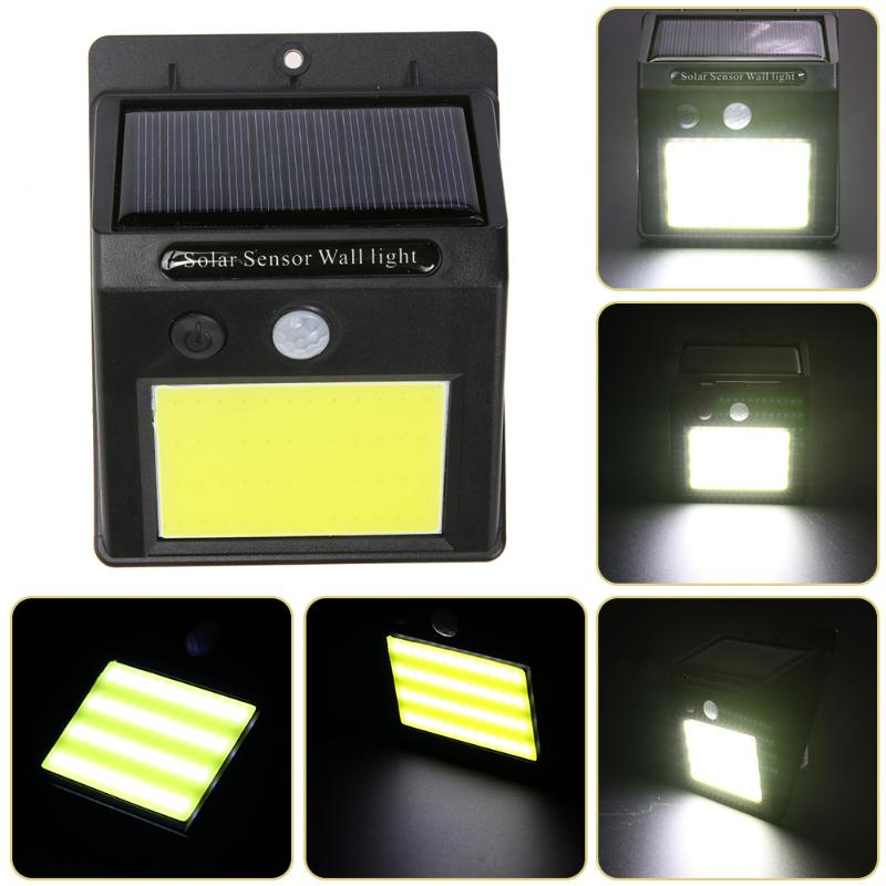 LED Solar Power Human Body Infrared PIR Motion Sensor Wall Light Outdoor Waterproof Street Yard Path Home Garden Lamp 48 LEDs