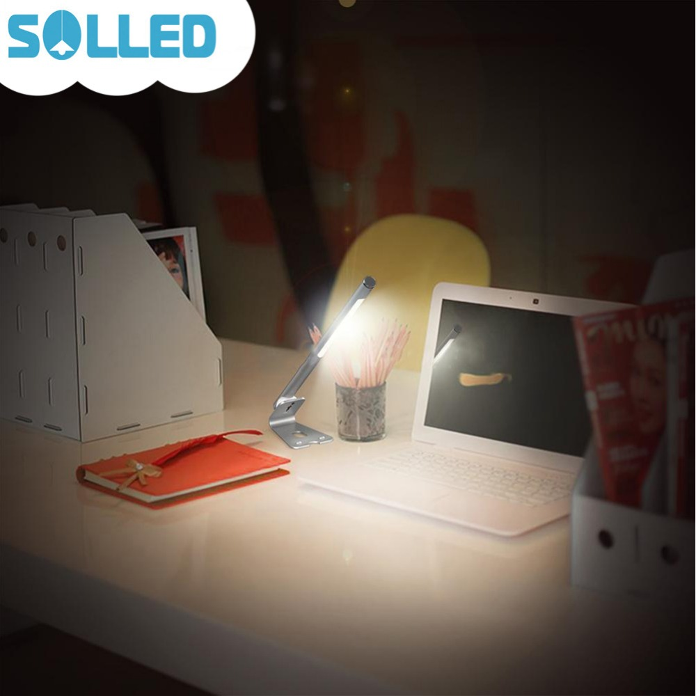 SOLLED Portable Detachable USB Charged Table Lamp Magnetic Adsorption Eye Protection Light Stepless Dimming Gift for Birthday