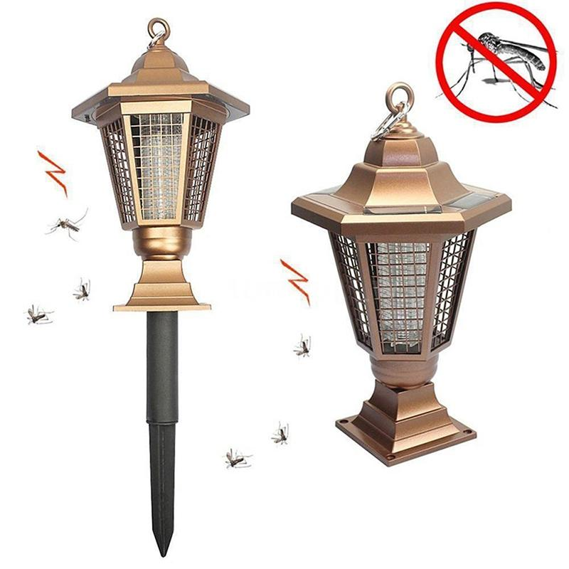 LumiParty Garden Solar Anti-Mosquito Lamp Outdoor Mosquito Killer Lamp Lawn Insect Repeller Insecticidal Repellent Electronics