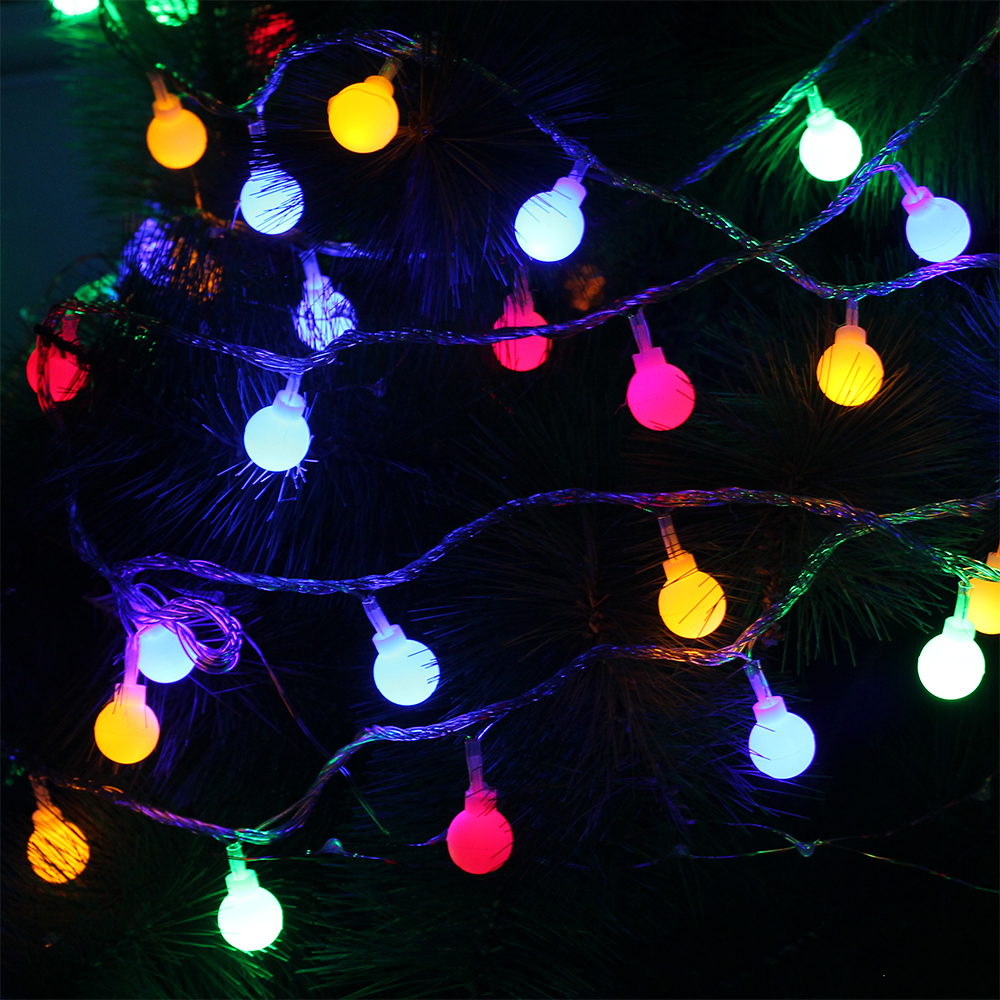 New year 10M 100LED Ball Fairy String Light IP44 for Home Garden,Party,Wedding Holiday Christmas decoration Garland Light 220V