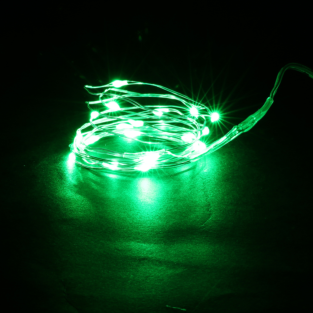 High Efficient 10M 100 LED 3AA Battery Silver Wire Decorative String Light P15