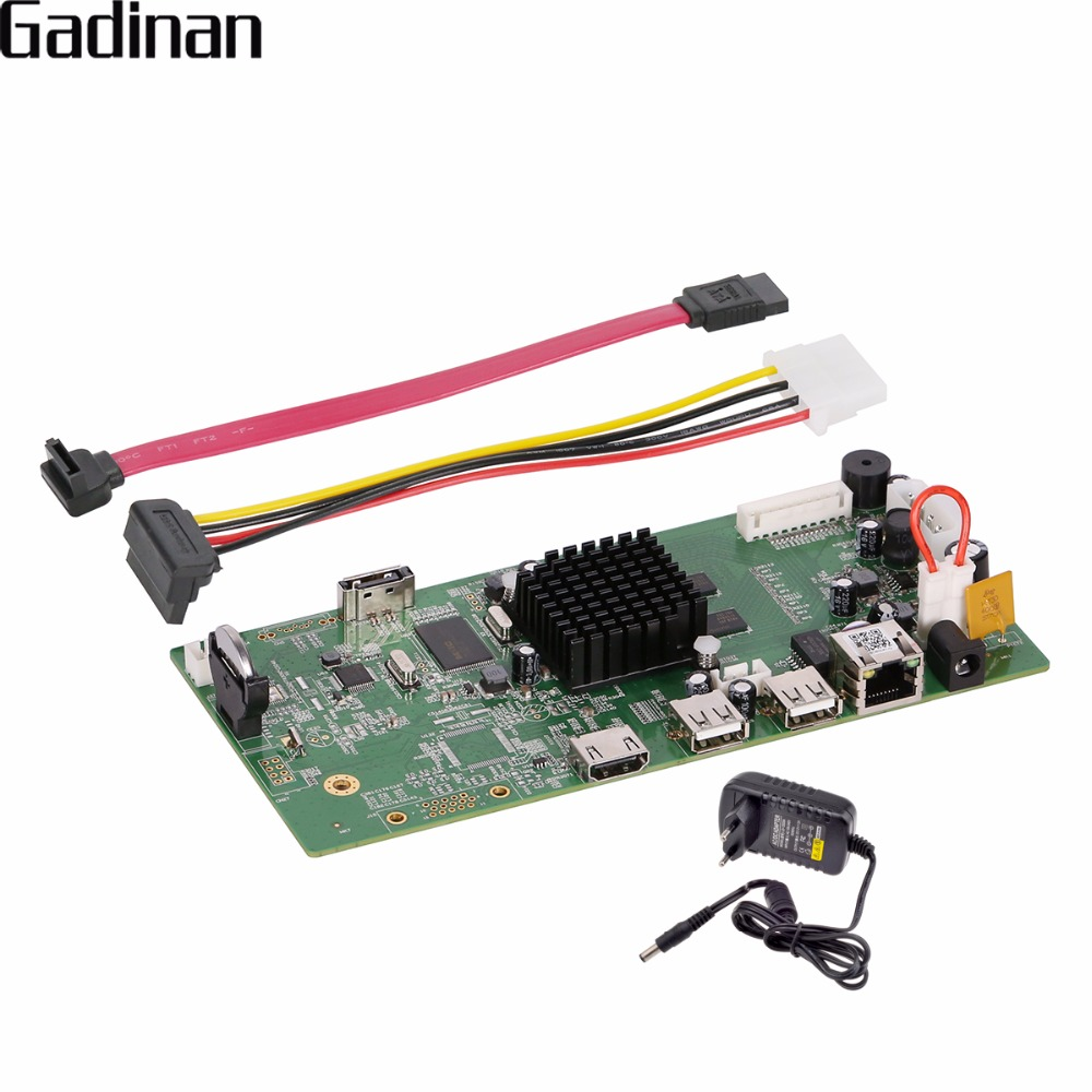 GADINAN 4CH CCTV H.265 H.264 NVR Board HI3798M Security IP NVR DIY Module 4CH 4K/4CH 5MP /4CH 4MP XMEYE P2P ONVIF Support VR