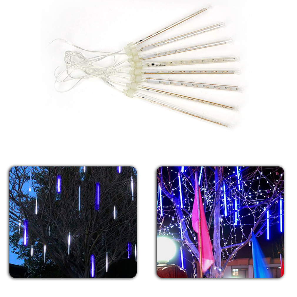 New Hot 20CM LED Lighting Colorful Meteor Shower Rain Tube Lights Christmas Decoration