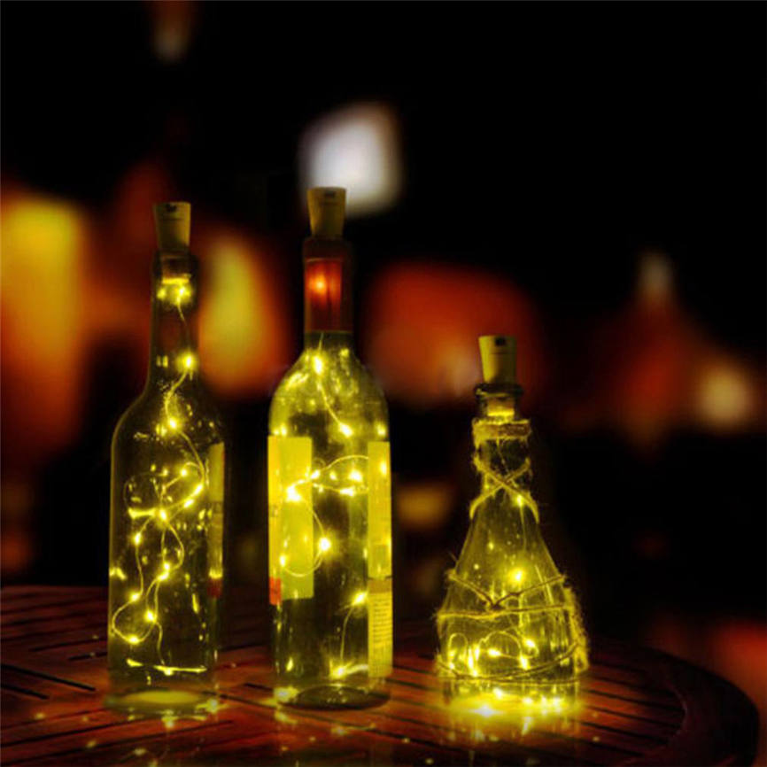 CARPRIE Super 8LED Copper Wire Wine Bottle Cork Shape Light Starry Light Wedding Decor Dropshipping &925