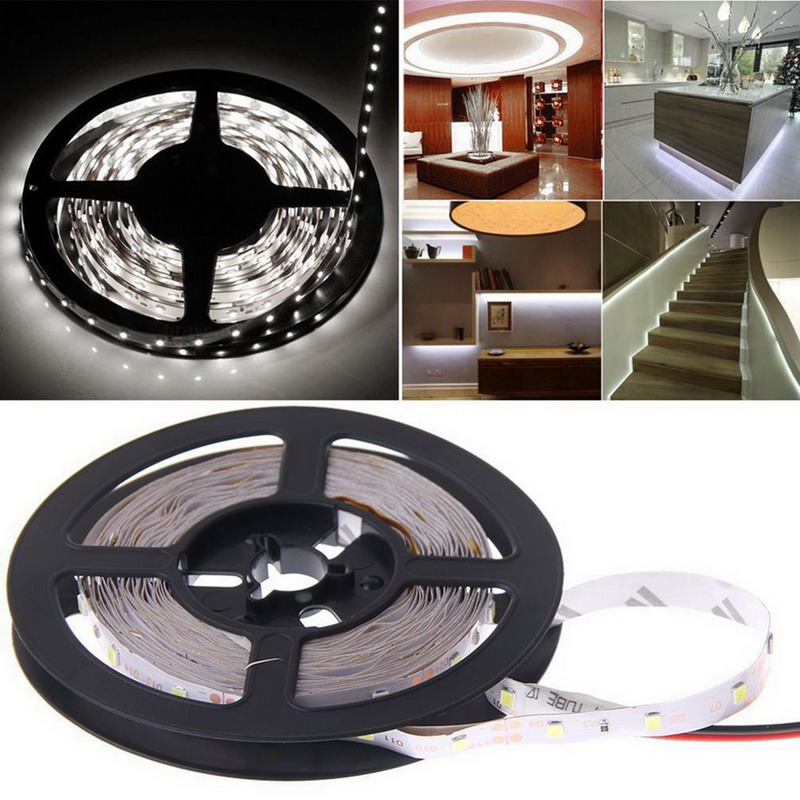 5M 16ft 3528 SMD RGB 300 LEDs Flexible Light LED Sticky Strip 12V Lamp Valentines Wedding christmas garland Decoration