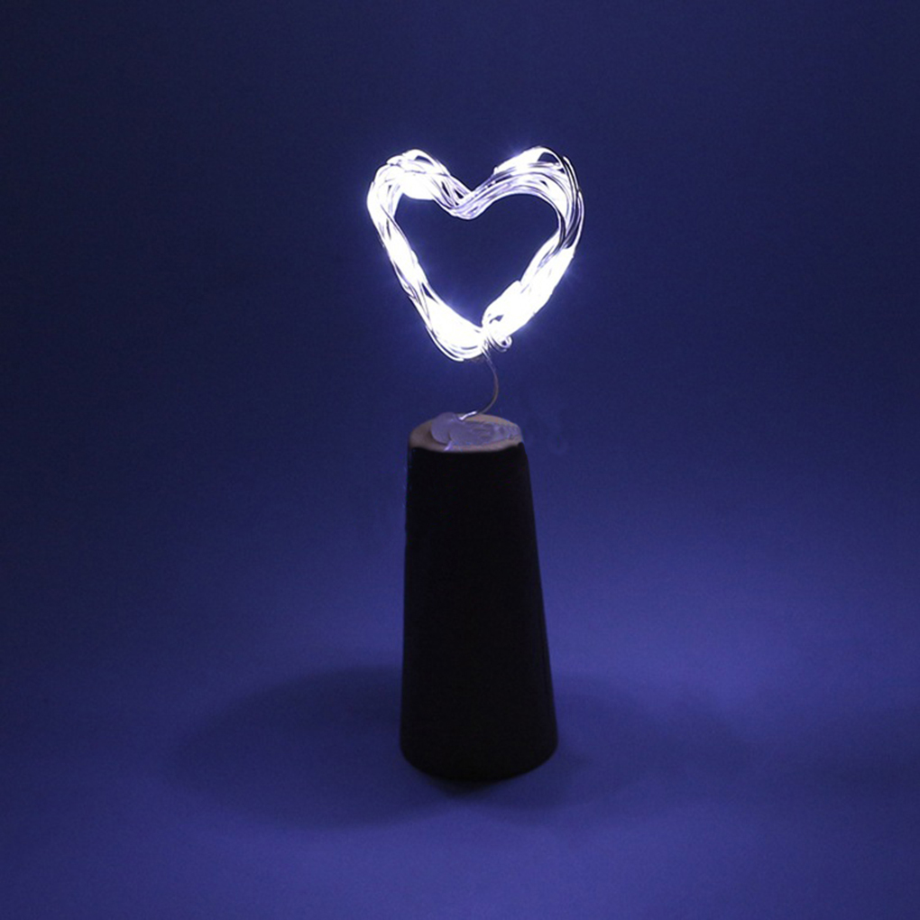 1M 10-LEDs / 2M 20leds Battery Powered Silver Wire Bottle Cork String Light with 3pcs AG13 Batteries