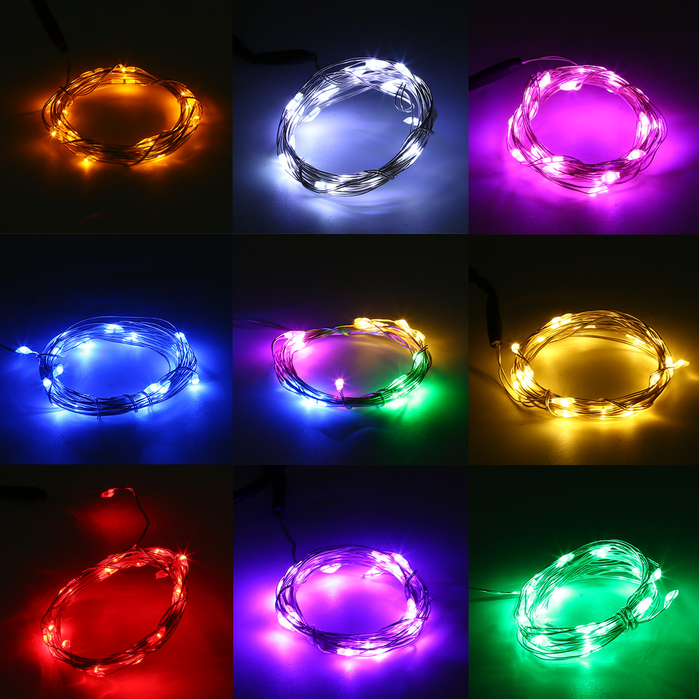 Waterproof 5M 50LED USB Silver Wire String Fairy Light Lamp christmas garland Valentines Wedding Holiday Decoration