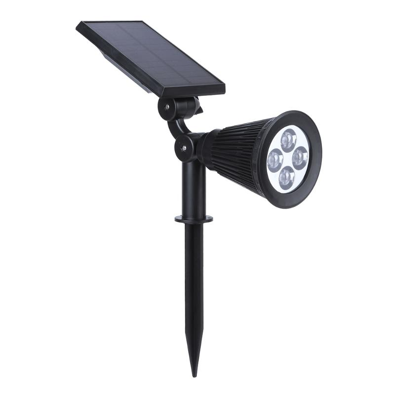 4 LED Solar Powered Garden Spotlight Christmas Light Outdoor for Landscaping Yard Projector Light Ground or Wall Mount