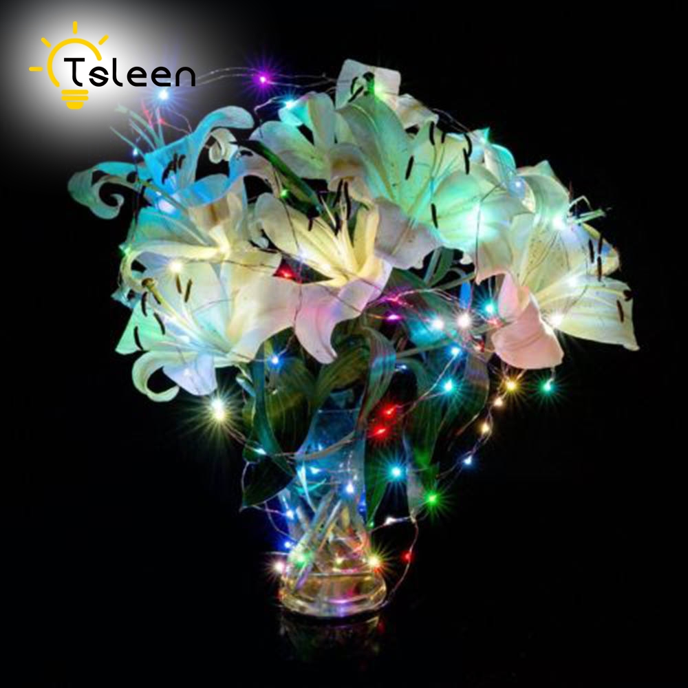 Warm White Colorful 10M 100 led AA Battery Solar Decorative LED copper Silver wire Fairy String Lights for Christmas Holiday