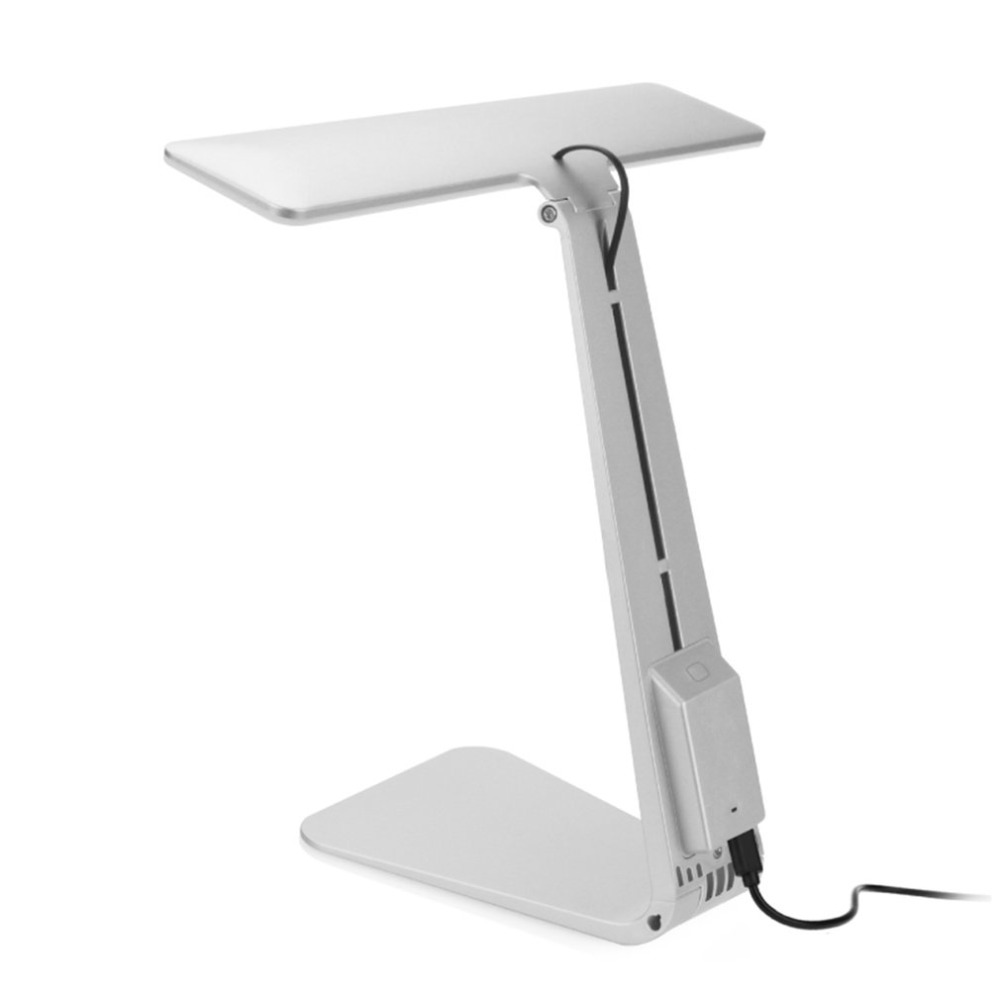 USB Charging Foldable Desk Lamp Eye-care Reading Lamp Touch Control Lighting Office/Home/Study Gift White