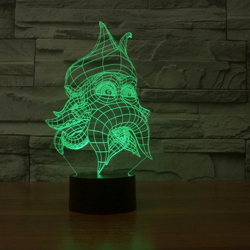 Octopus 3D Night Light 7 Color Changing Remote Switch 3d Lamp Acrylic Visual Light Novelty Luminaria Led Night Light Child Gift