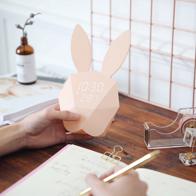 Multi-function Led Digital Alarm Clock Night Light Multi-function Led Digital Alarm Clock Night Light Cute Rabbit Bunny