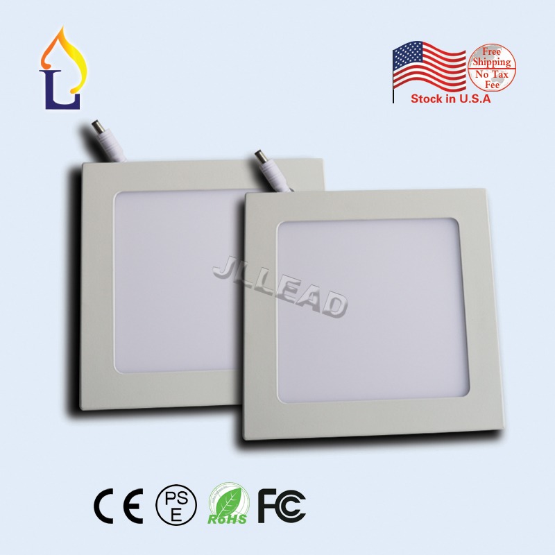 (10 pcs/lot) Led light 12W 60leds/18W 90leds Square Led panel Light SMD2835 AC110-277V High brightness led ceiling down light