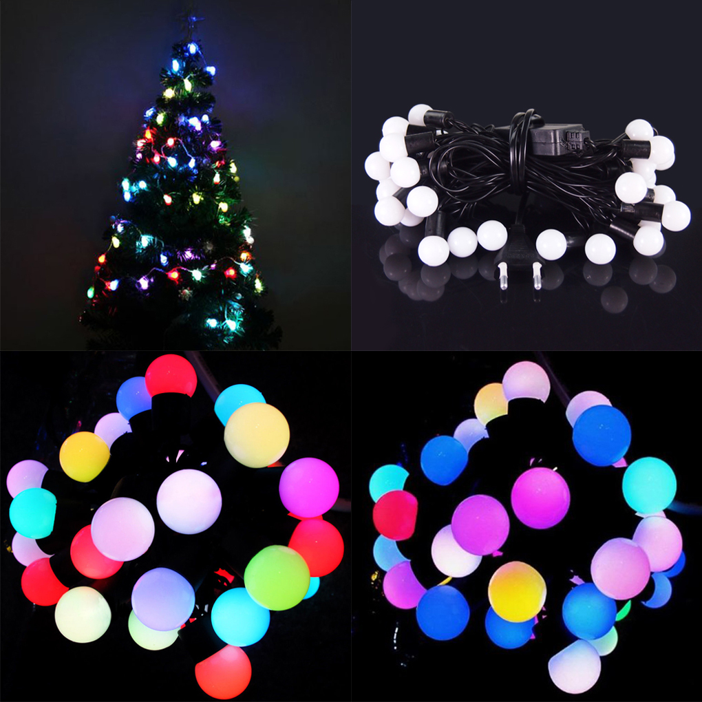 New Arrival 5M 40leds ball LED string Starry Light 220V EU plug
