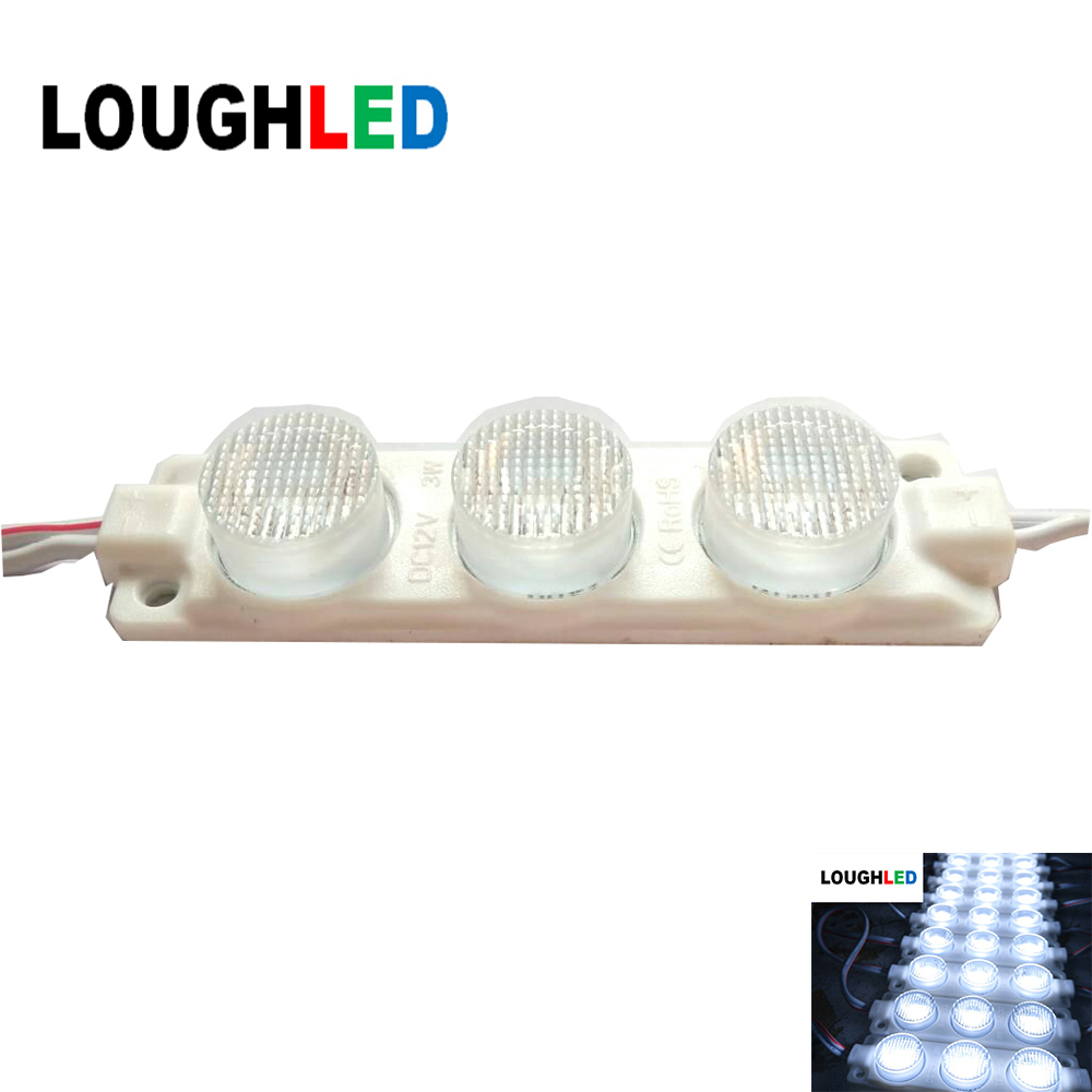 High Power Injection LED Module DC12V 3W  IP65 with Len 45*25 degree for Double Sides Lighting Box White Red Green Blue Yellow