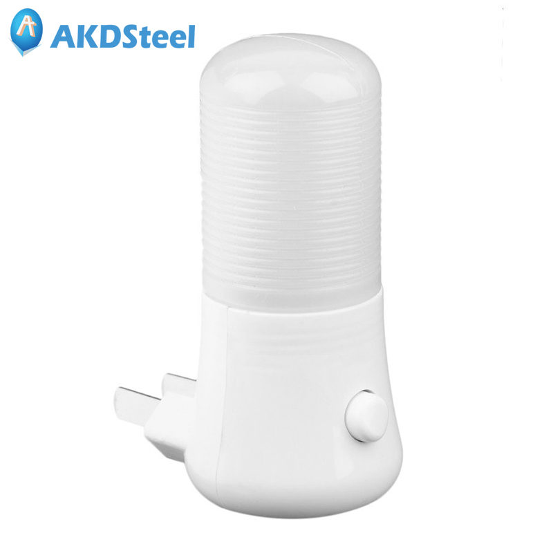 AKDSteel 3W Manual On Off Switch LED Night Light Plug in AC220V Wall Soft White Energy Saving Simple Style Bathrooms Bedrooms
