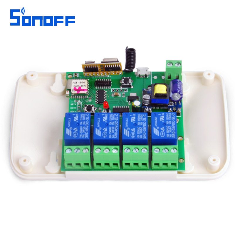 sonoff usb5V/dc7-32v 4ch Relay WIFI Switch 433Mhz rf receive