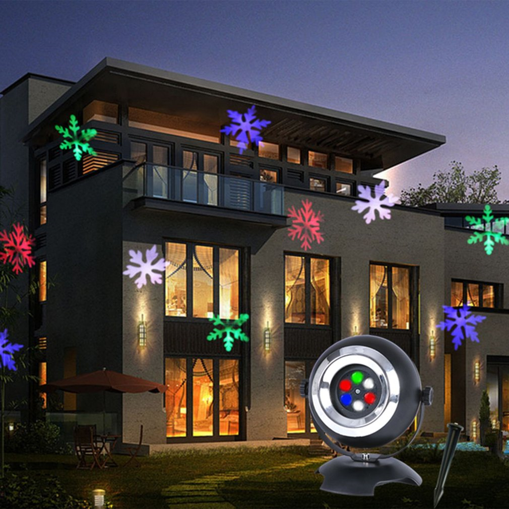 ICOCO LED Snowflake Lawn Lamp Dynamic Film Projector Light for Festival Christmas Holloween Party Decor EU Plug Quality