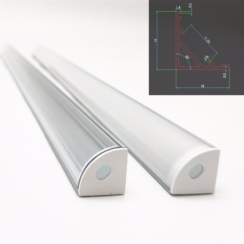 5pcs 20inch 0.5m 12mm pcb 45 degree corner led aluminium profile, led aluminum channel, V shape aluminum housing
