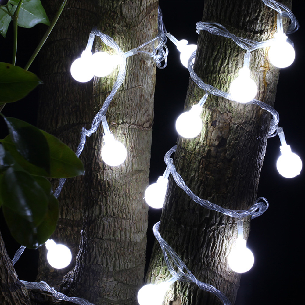 5m 40 LEDs Ball Globe Fairy String Lights Warm White Colorful Lighting Strings For Valentines Wedding Decoration Lamp Party
